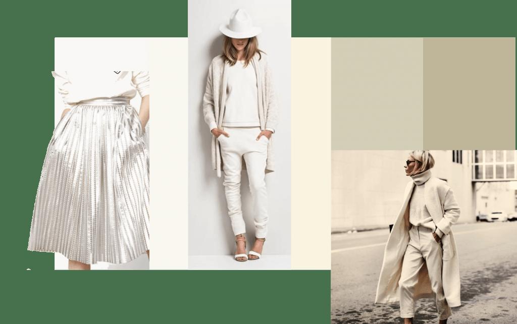 Blancos, beiges, grises